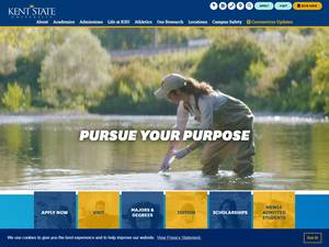 Kent State University's Website Screenshot