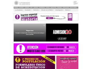 Universidad Academia de Humanismo Cristiano's Website Screenshot