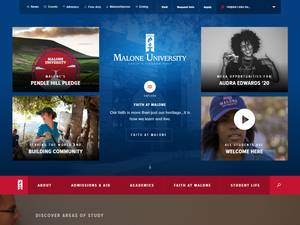 Malone University's Website Screenshot