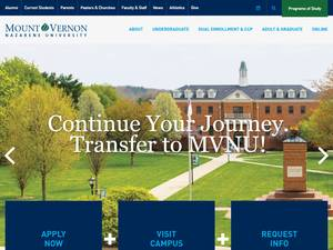 Mount Vernon Nazarene University's Website Screenshot