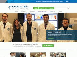 Northeast Ohio Medical University's Website Screenshot