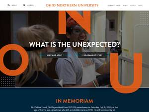 Ohio Northern University Screenshot