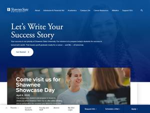 Shawnee State University's Website Screenshot