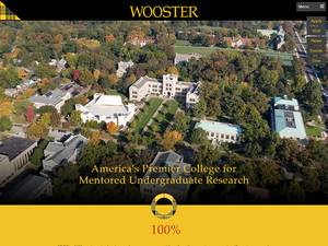The College of Wooster's Website Screenshot