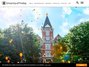 The University of Findlay's Website Screenshot