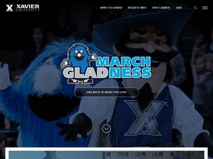 Xavier University Screenshot