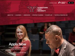 Youngstown State University's Website Screenshot