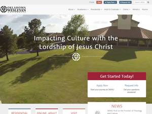 Oklahoma Wesleyan University's Website Screenshot