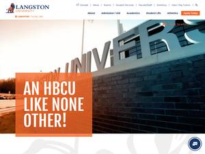 Langston University's Website Screenshot