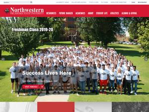 Northwestern Oklahoma State University's Website Screenshot
