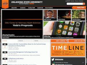Oklahoma State University's Website Screenshot
