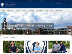 Concordia University, Oregon Screenshot