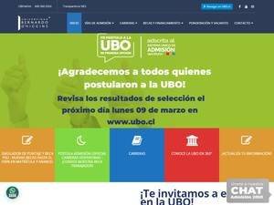Universidad Bernardo O'Higgins's Website Screenshot