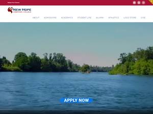 New Hope Christian College's Website Screenshot