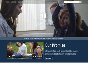 George Fox University's Website Screenshot