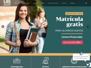 Universidad Bolivariana's Website Screenshot