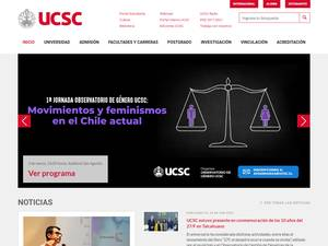 Universidad Católica de la Santísima Concepción's Website Screenshot