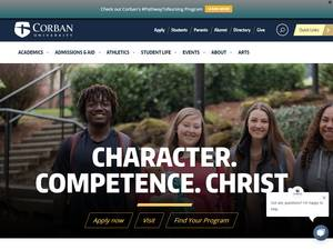 Corban University's Website Screenshot