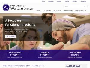 University of Western States Screenshot