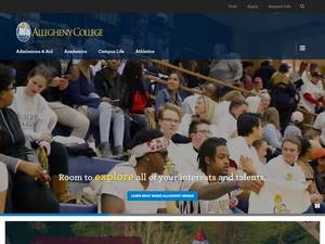 Allegheny College's Website Screenshot