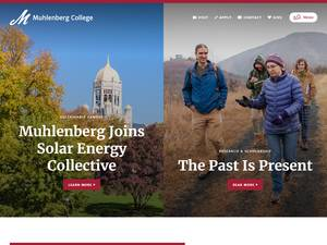 Muhlenberg College's Website Screenshot