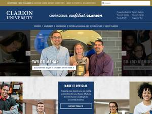 Clarion University of Pennsylvania's Website Screenshot