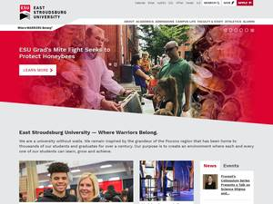 East Stroudsburg University's Website Screenshot
