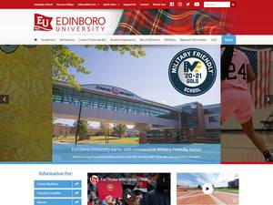 Edinboro University of Pennsylvania's Website Screenshot