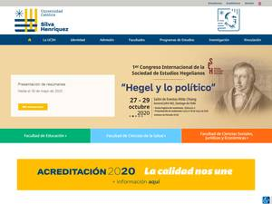Universidad Católica Silva Henriquez's Website Screenshot