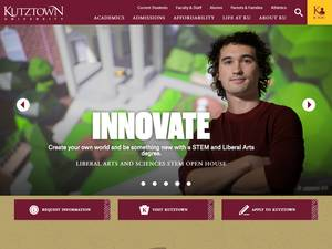 Kutztown University of Pennsylvania Screenshot