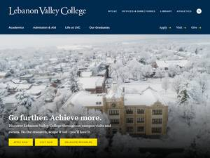 Lebanon Valley College's Website Screenshot