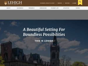 Lehigh University's Website Screenshot