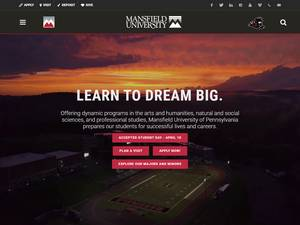 Mansfield University of Pennsylvania's Website Screenshot
