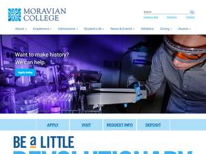 Moravian College's Website Screenshot