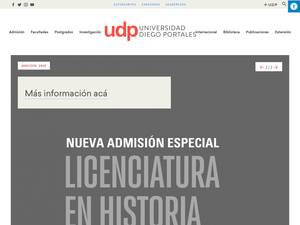 Universidad Diego Portales's Website Screenshot