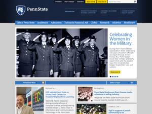 Penn State University's Website Screenshot