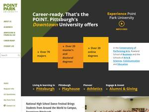 Point Park University's Website Screenshot