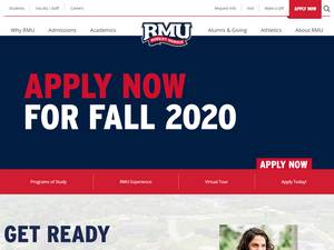 Robert Morris University's Website Screenshot