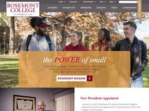 Rosemont College Screenshot