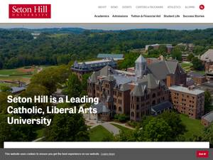 Seton Hill University's Website Screenshot