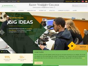 Saint Vincent College's Website Screenshot