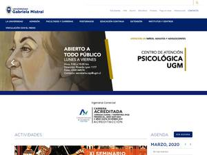 Universidad Gabriela Mistral's Website Screenshot
