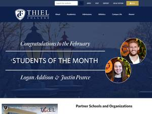 Thiel College's Website Screenshot