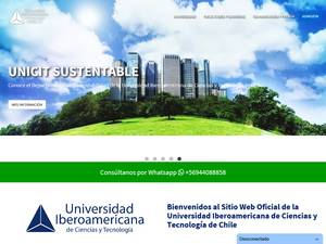 Ibero-American University of Science and Technology, Chile Screenshot