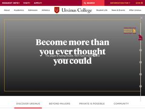 Ursinus College's Website Screenshot