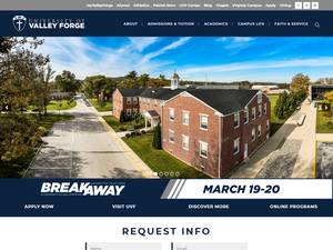 University of Valley Forge's Website Screenshot