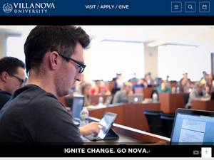 Villanova University Screenshot