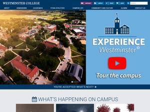 Westminster College, Pennsylvania's Website Screenshot