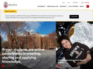 Brown University Screenshot