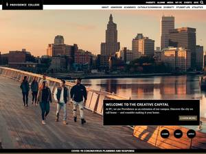Providence College's Website Screenshot